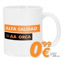 Taza blanca para sublimación - Alta calidad AA ORCA
