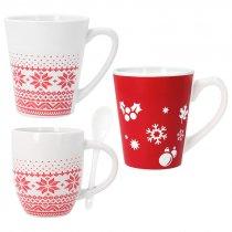 Taza de cerámica con motivos de Navidad