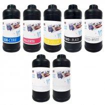 Tintas UV, barniz y limpiador para impresoras UV Imprimo