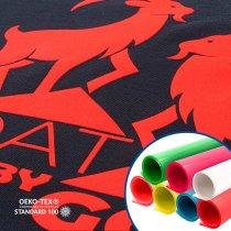 Vinilo textil flock Tubitherm® de Poli-tape - Colores flúor y blanco blockout