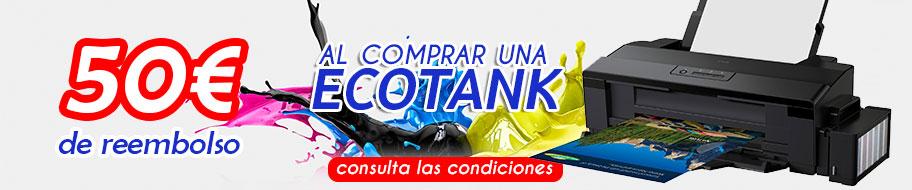 Promoción de 50€ de reembolso al comprar una Impresora Ecotank