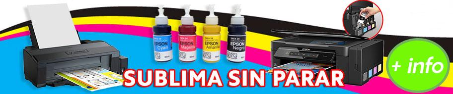 Tintas de sublimación EPSON en pequeño formato perfectas para las ECOTANK