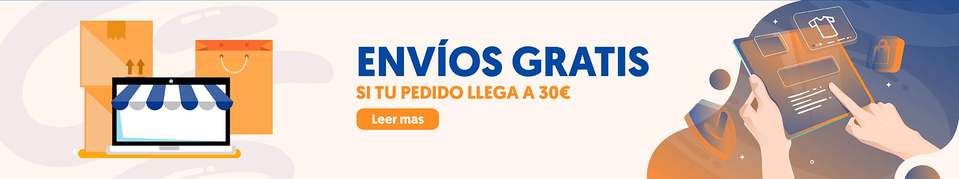 Envío gratis si llegas a 30€