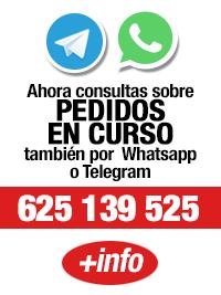 Consulta el estado de tu pedido vía Telegram o Whatsapp