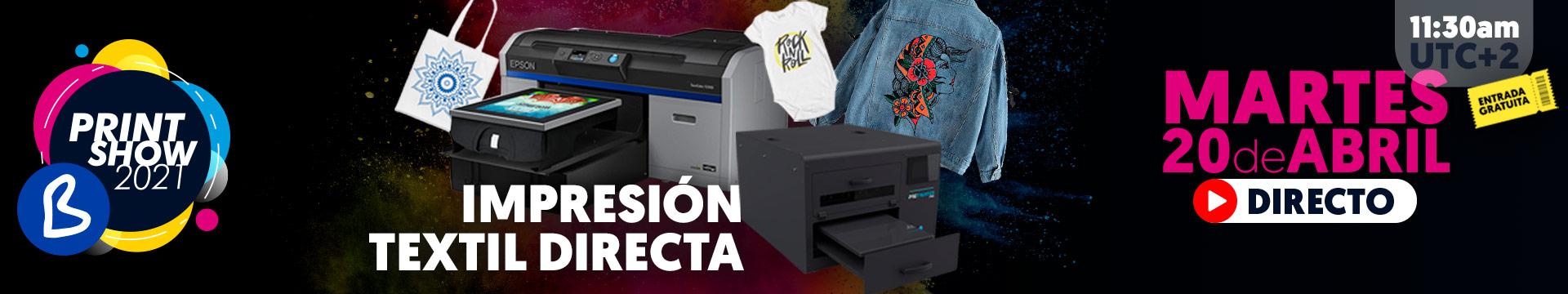 Directo DTG Impresión textil directa - Martes 20