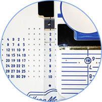 Rejilla de números y letras
