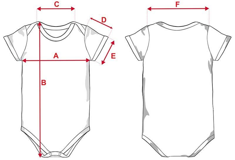 Esquema body infantil tacto algodón de manga corta