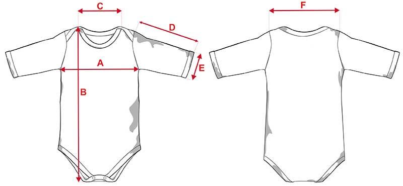 Esquema body infantil tacto algodón de manga larga