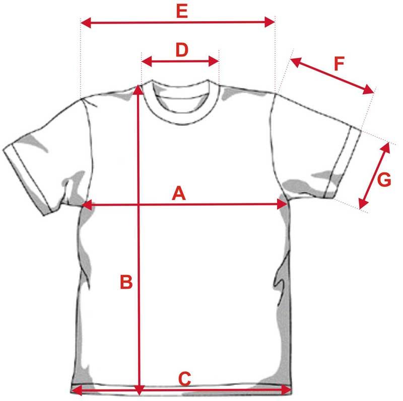 Esquema camiseta 190g tacto algodón