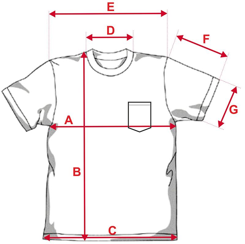 Esquema camiseta de chico para sublimación con bolsillo