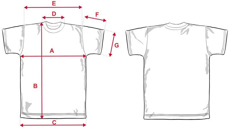 Esquema camiseta adulto sublimación