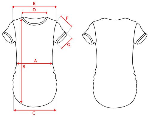 Esquema camiseta de mujer para sublimación Aintree