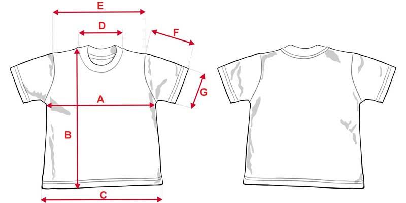 Esquema camiseta niño sublimación