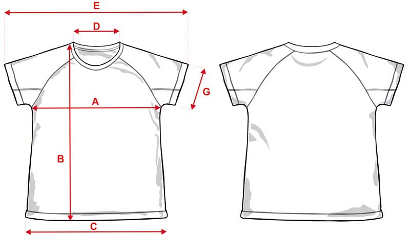 Esquema camiseta técnica niño económica