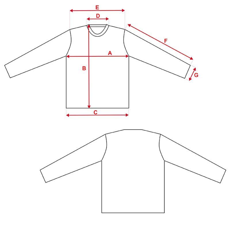 Esquema camiseta niño Vapor Apparel con protección solar manga larga