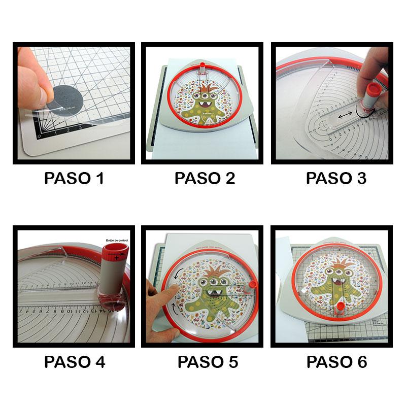 Montaje Cutter Circular con alfombrilla de corte