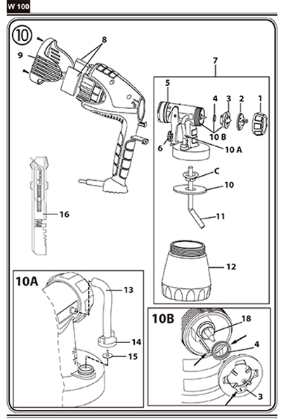 Instrucciones para la colocación de los recambios